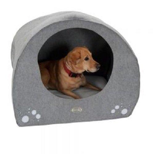 Zooplus waschbares Hundebett Iglu bequem Medium Indoor Höhle