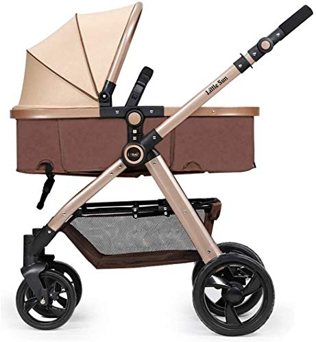 Sistema de viaje Carruaje infantil Cochecito portátil para bebés 3 en 1, Sistema de viaje para bebés PrAM para toda la ciudad de Terreno Cochecito compacto con construcción duradera Carrera de vista a