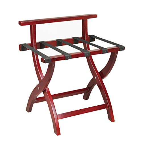 New Folding Luggage Rack Suitcase Stand Wooden Luggage Stand Backpacks (Color : A)