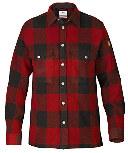 Fjallraven Herren Canada M Long Sleeved T-Shirt, Red, L