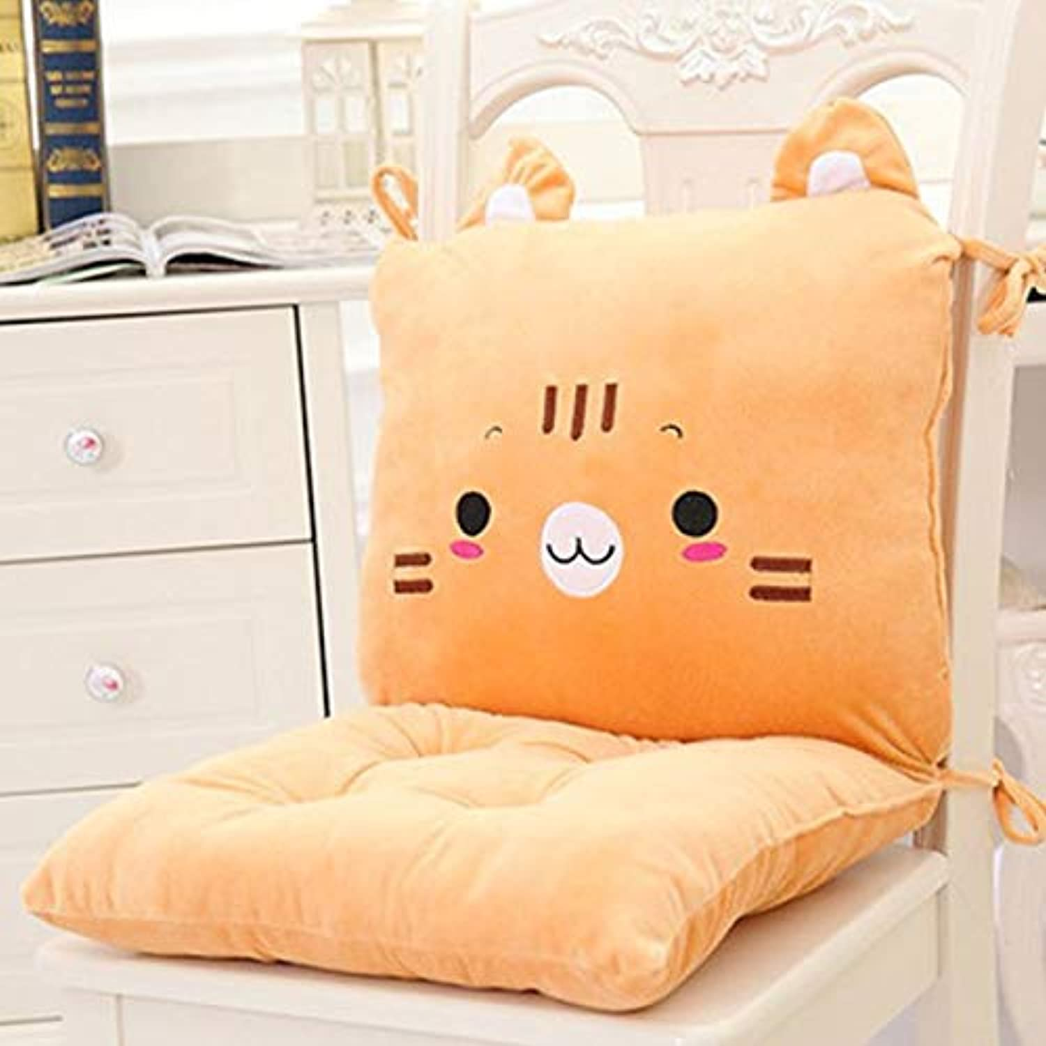 2 pcs of Cartoon Siamese Cushion Cushion Back One Office Computer Chair Pad Thicken Student Seat Dining Chair Ass Mat Cojin decorativo