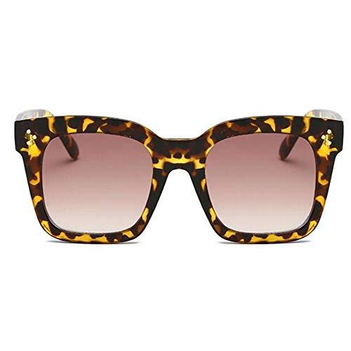 ZRTYJ Occhiali da Sole Fashion Kim Kardashian Occhiali da Sole Lady Flat Top Eyewear Lunette Femme Donna Luxury Brand Occhiali da Sole da Donna Rivet Sun Glasse