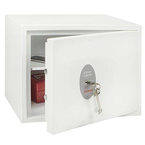 Phoenix Safe Company Phoenix Fortress SS1182K-Caja Fuerte de Seguridad con Llave (tamaño 2, S2), Metal, Blanco, Small
