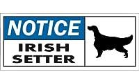 NOTICE IRISH SETTER ワイドマグネットサイン:アイリッシュセッター Lサイズ
