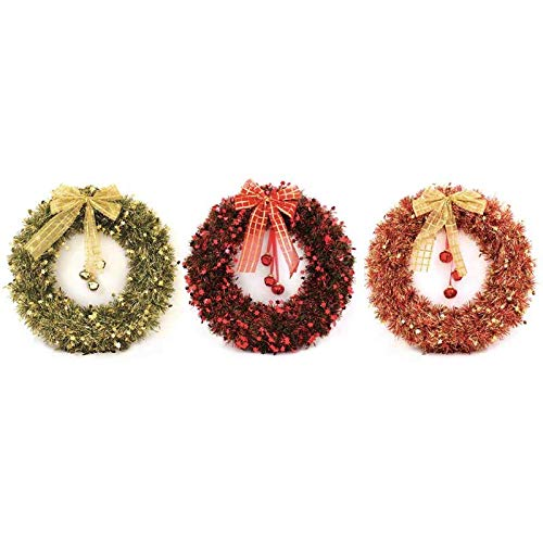 St@llion - Guirnalda navideña con campanas para colgar en la pared y la puerta, multicolor