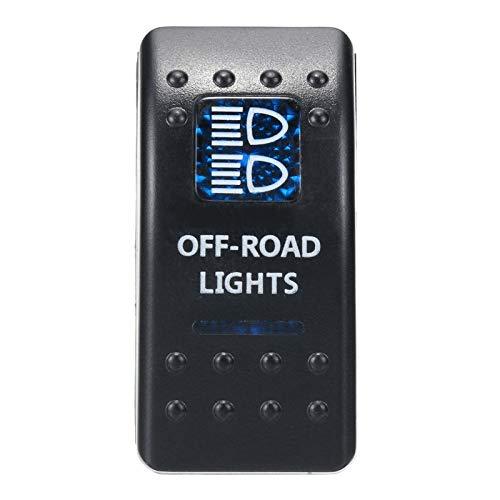 FORETTY Niyao08 1 unids 12V 24V Barco de automóviles Caravan Rocker interruptores Impermeable Rocker Switch Double Blue LED Barra promiscuo 4x4 Durable (Color : Red)