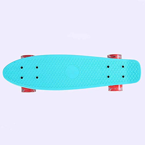 22 Zoll Pp Plastikflash-Skateboard, Junge, Mädchen Four Wheel Cruiser Board Skateboard QIANGQIANG (Color : Chrome)