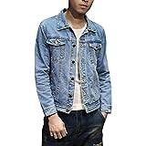 [YFFUSHI] 全3色 デニムジャケット Gジャン メンズ ジージャン ダメージ 加工 長袖 大きいサイズ