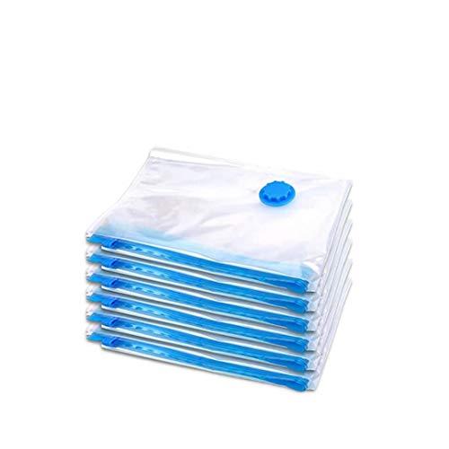 Bolsas de almacenamiento al vacío duraderas para ropa Almohadas Manta de cama Más espacio Ahorro de compresión Bomba de mano de viaje Sellado Cremallera-Pequeño 30x40CM, solo 6 paquetes de bolsas