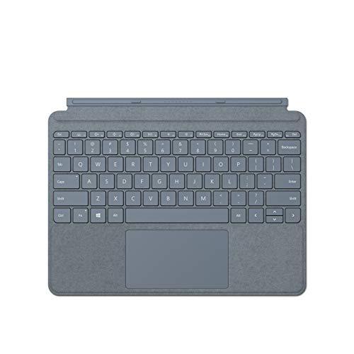 Microsoft Surface Go Signa Cover - Teclado compatible con Surface Go 1 y Surface Go 2, Azul hielo (Alcántara) KCS - 00116