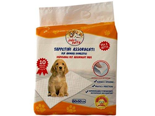 PALUCART-tappetini igienici assorbenti per cane pipì 60x60 super convenienti traversine x cani 50 pezzi animali domestici con adesivo anche per gatti anti odore