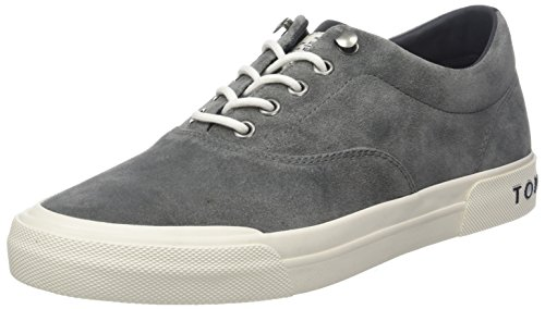 Tommy Hilfiger Herren Heritage Suede Sneaker, Grau (Charcoal 007), 43 EU