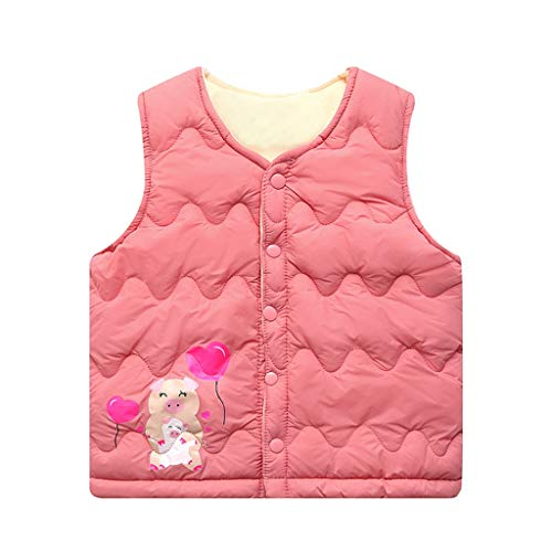 Topkeal - Sudadera Unisex para niña, para bebé, niña, sin Mangas, diseño de Cerdo Wassermelonen Rot 140