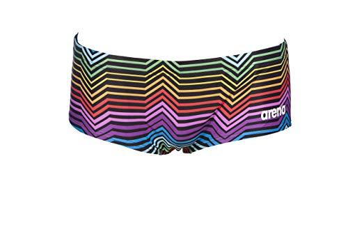 ARENA M Multicolor Stripes Low Waist Short, Schwimmshorts für Herren, Schwarz (Black/Multi), 95