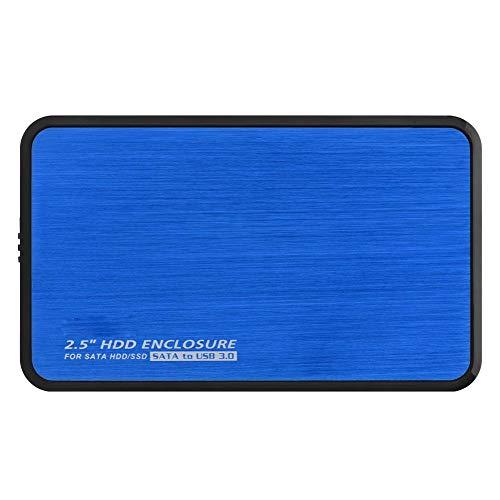 Socobeta Alloggiamento per Disco Rigido Esterno Senza Attrezzi da 2,5 Pollici SATA a USB 3.0 per HDD SSD(Blu)