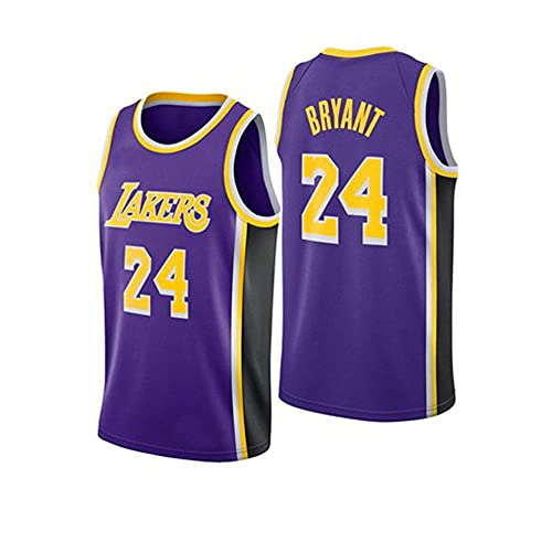 Kobe Hombres 3D Impresa Camiseta Baloncesto Jersey número 24 número 8 Mujeres El Verano Casual Anime Sweatshirts Manga Cort Unisexo-púrpura_L