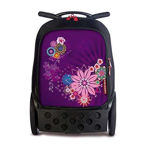 Nikidom - Roller Bloom - Mochila con Ruedas - Medidas 51 x 33 x 21 cm - Capacidad 16 litros - Trolley Escolar - Robusto - Ergonómico - Práctico - Asa Telescópica 3 Alturas - Manillar Push/Pull