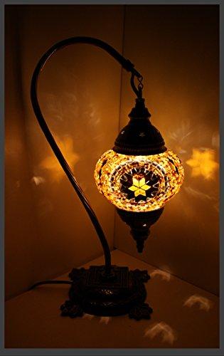 Mosaiklampe Mosaik - Stehlampe M Tischlampe orientalische lampe Gold-Stern Samarkand-Lights
