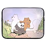 Laptop Sleeve Bag We Bare Bears Tablet Briefcase Ultraportable Protective Canvas for 13 Inch MacBook Pro/MacBook Air/Notebook Computer,Includes The Same Pattern 10 X 12 Inch Mouse Pad