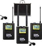 Pixel 100 Canali WM-10 senza fili microfono lavalier per DSLR Fotocamere Videocamera smartphone Registratore Audio