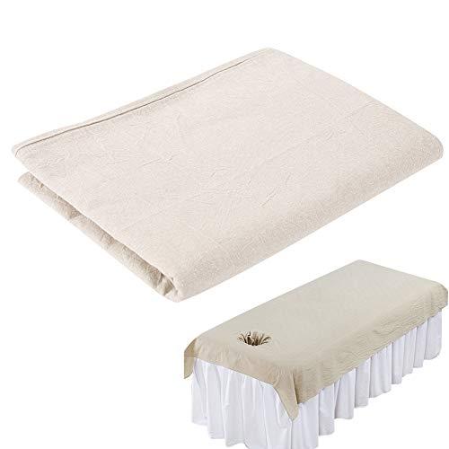 Sábanas para masaje en salón de belleza, para masaje de salón de belleza, funda de cama de algodón suave, protector de cama con agujero para la cara