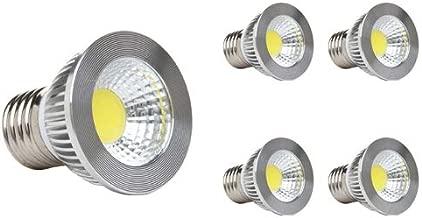 "GOOLSUN 5-watt PAR16/HR16 LED COB Flood Bulb, 2700K Warm White, Dimmable, 90° Beam Spread, 50-watt Equivalent, 500 lumens, CRI 80+, Short Neck, AC 120V, E26 Medium Base, 2.2"" Length - (Pack of 4)"