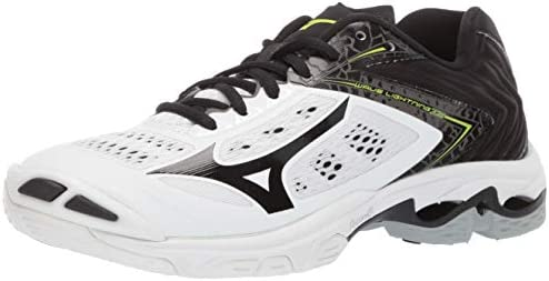Mizuno womens Wave Lightning Z5 Indoor Court Shoe White Black 9 5 US product image