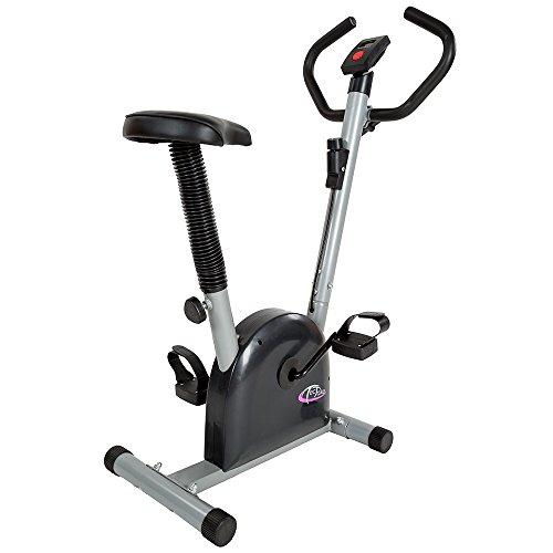 TecTake Maquina fitness bicicleta estatica | con monitor