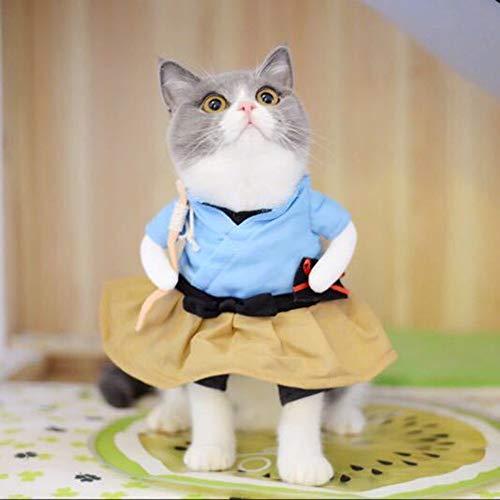 Dog&Cat Clothing Funny Cat Dog Costume Uniform Suit Cat Clothes Costume Puppy Clothes Dressing Up Suit Party Clothing for Cat Cosplay Clothes, Size:XL(Urashima Taro) ( Color : Urashima Taro )