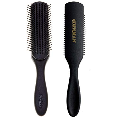 Denman Hair Brush for Curly Hair D3 (All Black) 7 Row Styling Brush for Blow-Drying