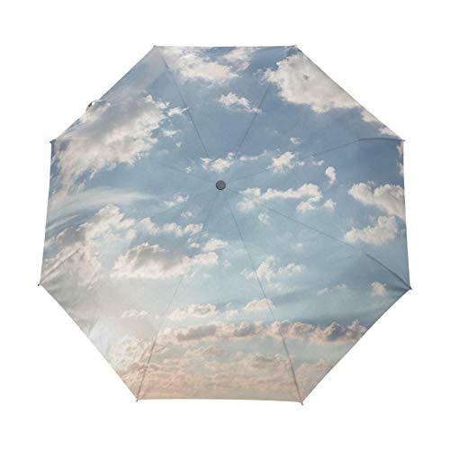 2021 Kreative Luxus Mode Three Folding Männer Regenschirm Himmel Kazbrella Winddicht Sonnenregen Frauen Regenschirm Akzeptieren Design (Farbe : Other)