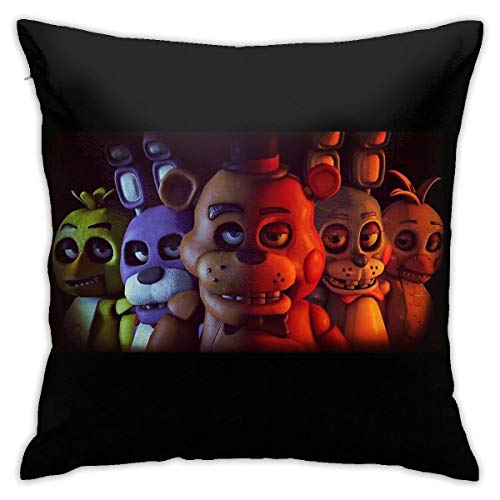 Not Applicable FNAF Five 5 Nights At Freddy'S Game Gamer - Funda de cojín Decorativa para sofá o Dormitorio, 45,7 x 45,7 cm, Estilo 5, Talla única
