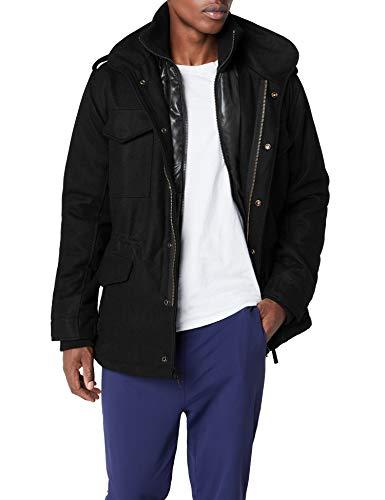 Brandit Herren M65 Voyager Wool Jacke, Schwarz (Black 2), Large