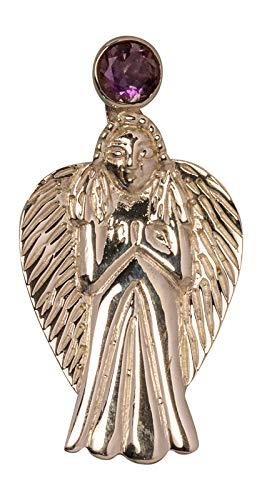 Avalon Schmuck Amulett Erzengel Schutz Sterlingsilber mit Amethyst