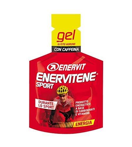 Enervit Enervitene Sports sabor cítrico con cafeína Caja de 24 geles de 25 ml
