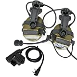 Tactical Headset COMTACIII Helmet ARC Track Bracket Version Headset Equipped with U94 PTT Adapter (FG)