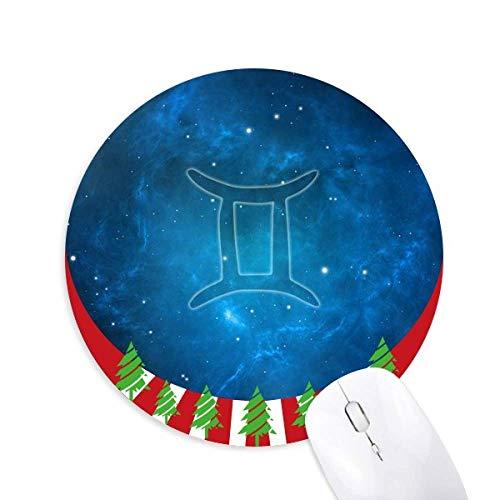 Sternnachts Gemini Sternbild Rund um Gummimaus Weihnachtsdekoration