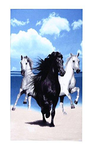 Black Temptation Plus de Serviettes de Bain/Serviettes de Plage/Spa Serviettes -Running Horse