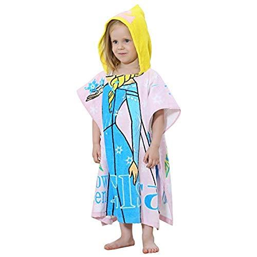 Kpcxdp Albornoces de Invierno, Albornoces para niños, Pijamas de rol de Princesas, niñas Dulces, Pijamas, Pijamas, Toallas de baño con Capucha de Dibujos Animados
