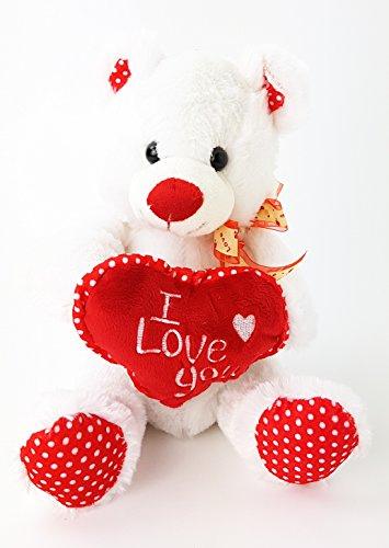 Teddy I love you Teddybär mit Herz und Schleife 26 cm