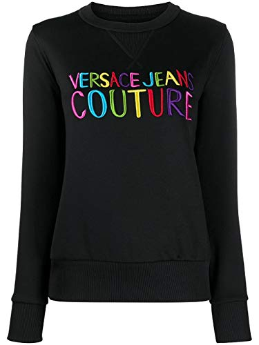 Versace Jeans Couture - Sudadera negra para mujer B6HVB70G-VDM309 20 Embro Negro S