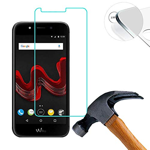 Lusee 2 X Pack Protector de Pantalla, Cristal Templado para Wiko Wim Lite 5.0 Pulgada, Vidrio Templado con 9H Dureza Alta Transparencia 0,3mm 2.5D