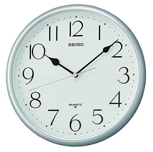 Seiko QXA747S - Reloj de Pared (plástico), Color Plateado
