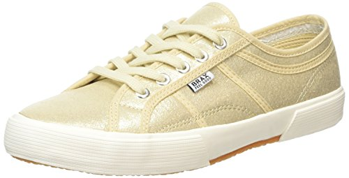 Brax Damen Schnürschuhe Sneakers, Gold (091 oro), 39 EU (5.5/6 UK)