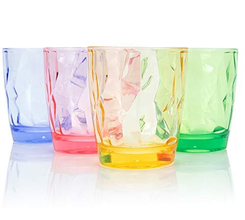 CYKK Bicchieri colorati in plastica | Bicchieri infrangibili da pinta | ideali per casa, ristoranti e feste | lavabili in lavastoviglie e microonde (colore 300 ml)