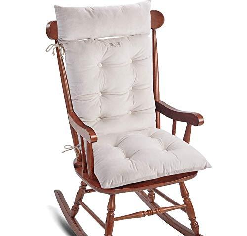 Big Hippo Cojín de respaldo alto con reposacabezas extraíble, cojín para silla de jardín, respaldo alto, cojín para silla de oficina, asiento de coche, jardín