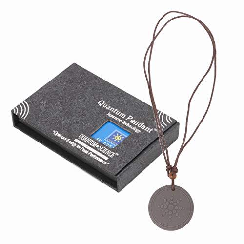 Guoyy Quantum - Collar con colgante de energía escalar, piedra de lava para el cuidado de la salud