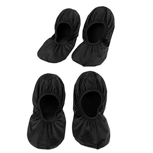 F Fityle 2 Pares de Zapatos de Bolos Reutilizables Impermeables Que Cubren Los Chanclos del Hogar