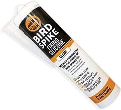 Defender Bird Spikes   Fixing Silicone Glue   10 oz Caulking Tube