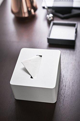 山崎実業 タワー ハーフティッシュボックス ホワイト 1個